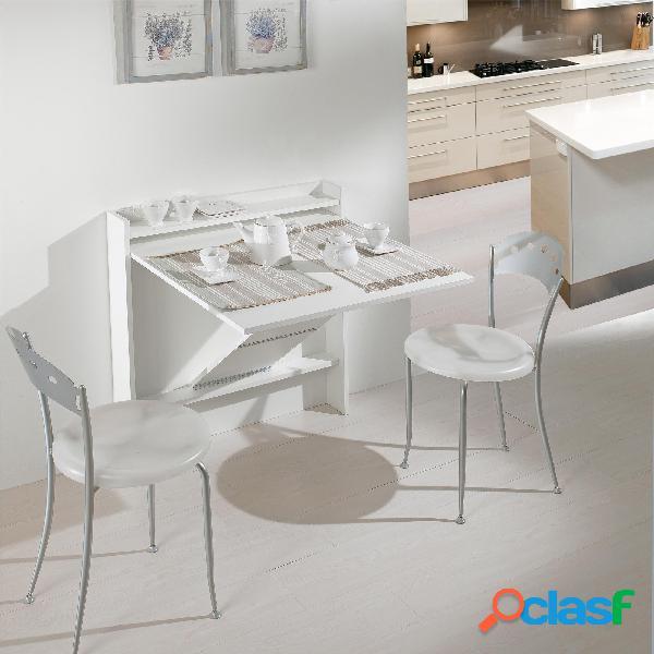 Consolle apribile trasformabile in tavolo scrivania living 13x83xh88 cm in struttura legno e melaminico