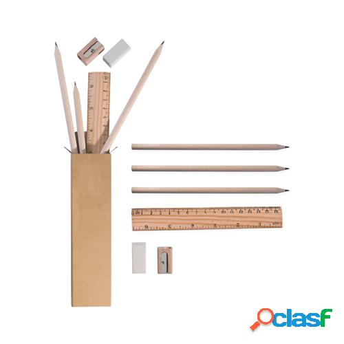 Complete nat - set matite + righello + gomma + temperamatite pd582
