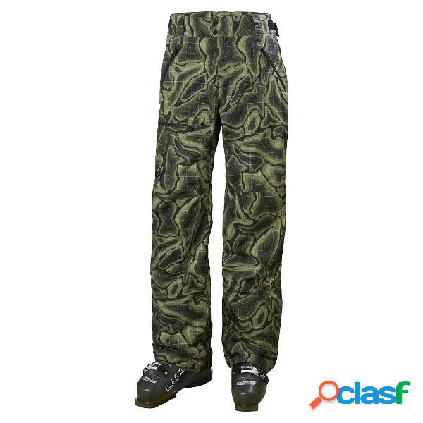 Pantalone sci helly hansen sogn cargo (colore: beluga nmm map print, taglia: s)
