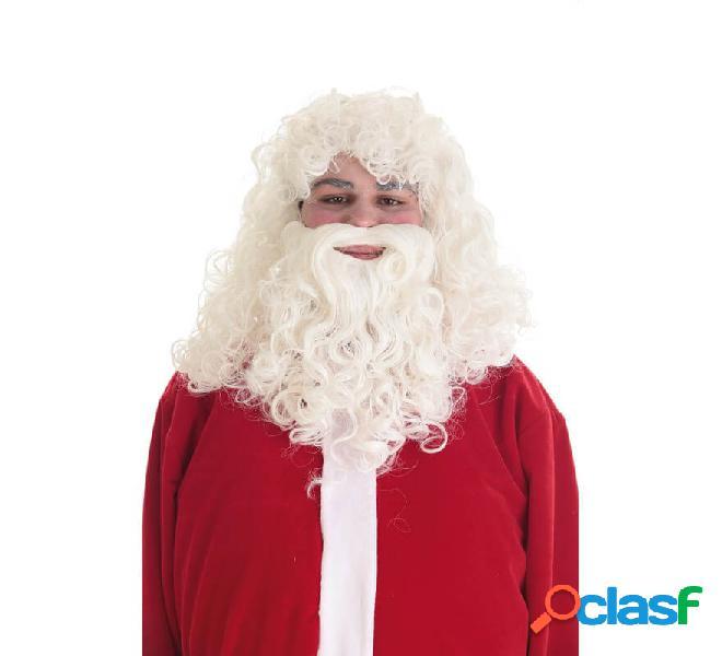 Parrucca e barba Babbo Natale lux