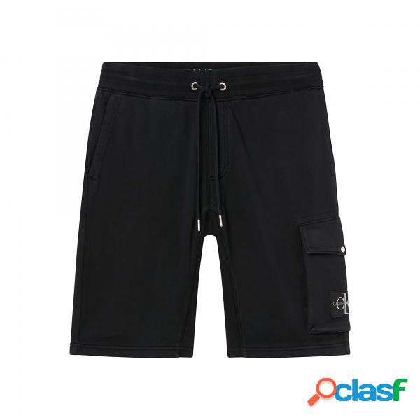 Calvin klein monogram badge hwk shorts calvin klein - pantaloni corti - taglia: s
