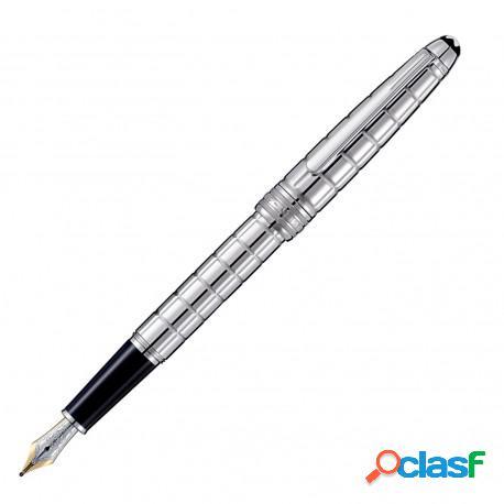 "Montblanc penna stilografica ""solitaire"" placcato platino mod. 38245"