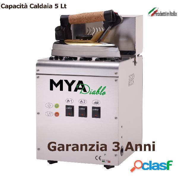 Ferro da stiro professionale lt 5 mya diablo 5 25x29xh 42 cm caldaia inox con resistenza esterna 1450 w garanzia 3 anni