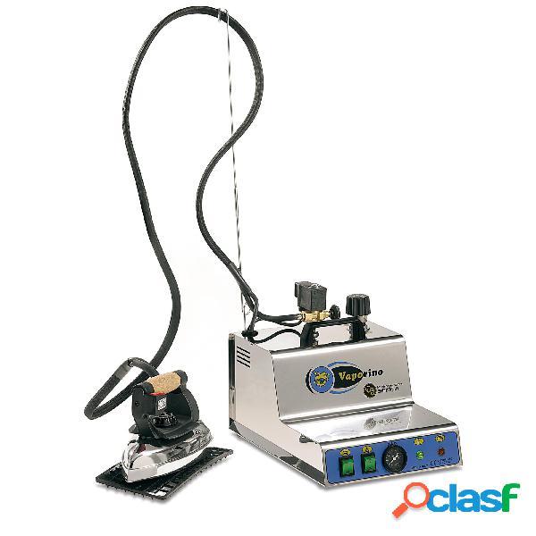 Ferro da stiro professionale vaporino inox maxi 2,3 lt - 3 ore di stiratura con ferro da stiro. valvola regolabile. doppia valvola di sicurezza e termostato