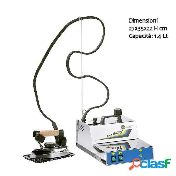Ferro da stiro professionale vapor baby inox completo di ferro da stiro 1,4 litri - 2 ore di stiratura valvola regolabile. doppia valvola di sicurezza