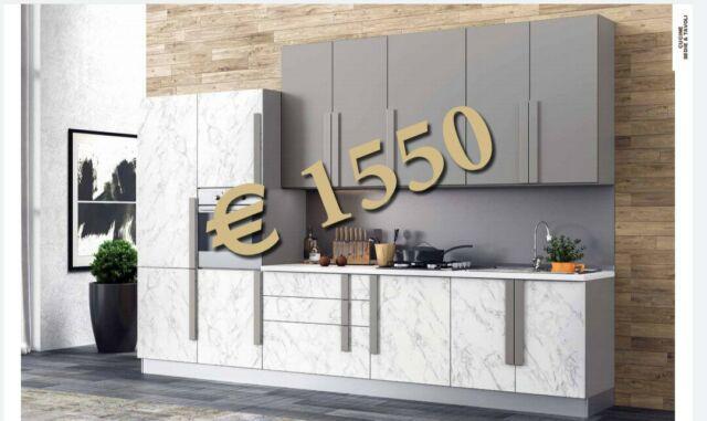 Cucina moderna larga 3,60 completa di elettrodomestici