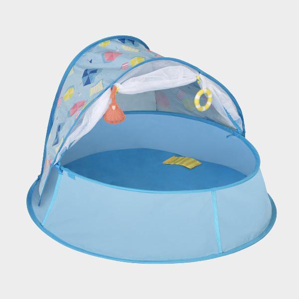 Lettino popup piscina e tenda da spiaggia 3 in 1 aquani blue