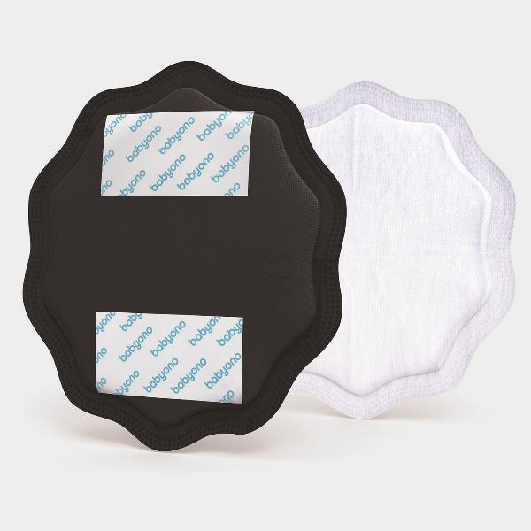 Set 24 coppette assorbilatte natural nursing black