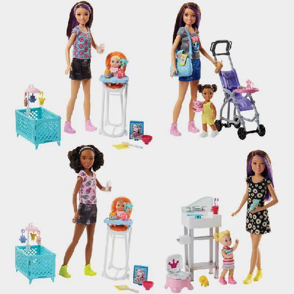 Set gioco barbie sister babysitter
