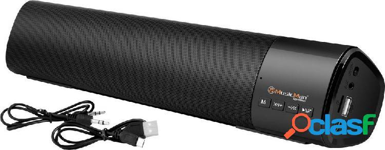 Music man bt-x54 soundbar, altoparlante portatile nero bluetooth®, usb