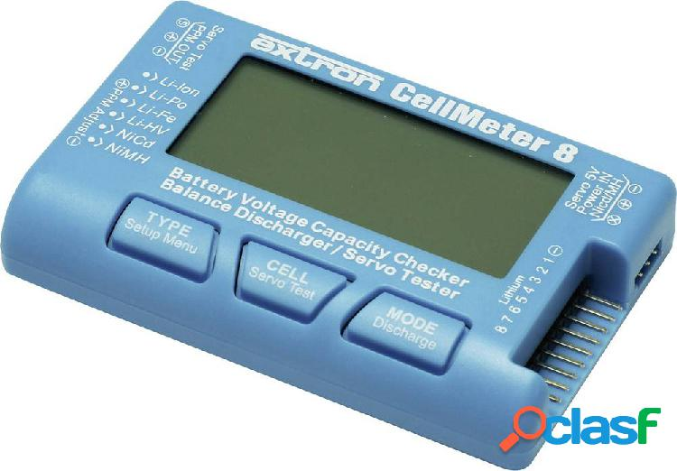 Extron modellbau cellmeter 8 tester batterie sistema innesto: eh, xh