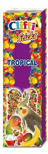 Cliffi Grande Parrot Frutta Snack Trop / miele 2Pz/150Grs