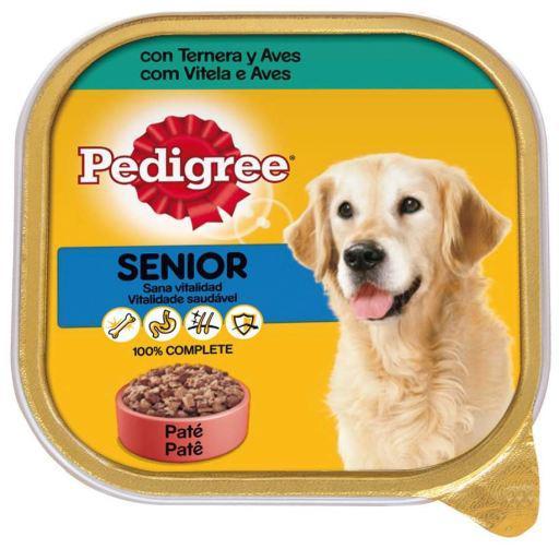 Pedigree cibo umido per cani anziani gusto vitello e pollame