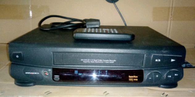 Videoregistratore vhs irradio funzionante