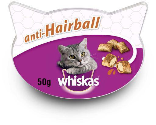 Whiskas anti-boli di pelo per evitare i boli di pelo nei