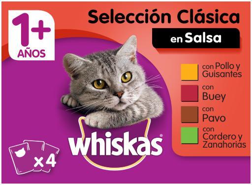Whiskas cibo umido per gatti selezione multipla di carni in