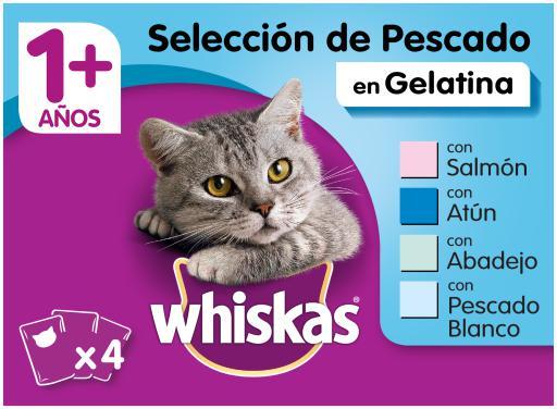 Whiskas cibo umido per gatti selezione multipla di pesce in