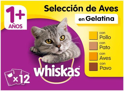 Whiskas cibo umido per gatti selezione multipla di uccelli