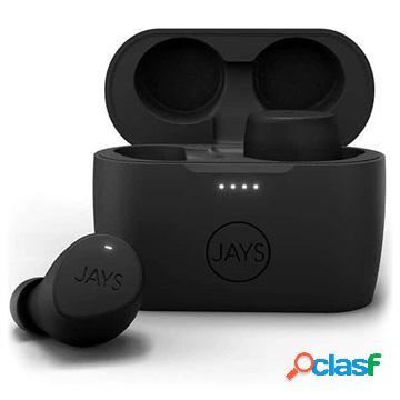Jays m-seven tws bluetooth headphones - ipx5 - black