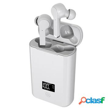 Tws bluetooth earphones with charging base a19 - white