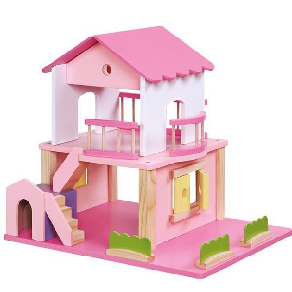 Casa delle bambole rosa - legler