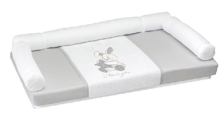 Fasciatoio cam coniglio in tessuto per cassettiere grigio