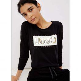 Liu jo sport t-shirt m/l logo bottoni