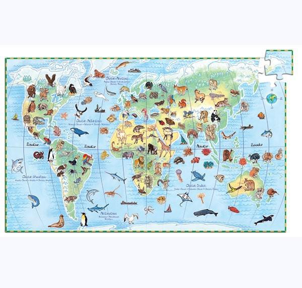Puzzle mondo degli animali djeco 100 pz