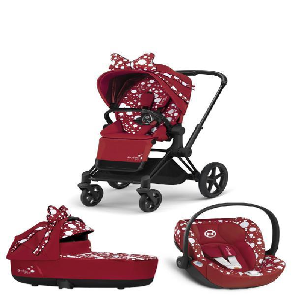 Trio passeggino cybex platinum priam petticoat red