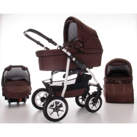 Bebebi passeggino trio bellami, 3-in-1 con pneumatici