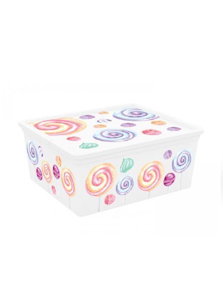 Kis box chups multiuso con coperchio 18 l - bimbostore