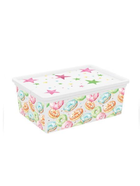 Kis box donuts multiuso con coperchio 11 l - bimbostore