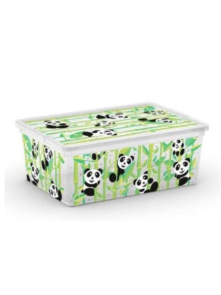 Kis box panda multiuso con coperchio 11 l - bimbostore