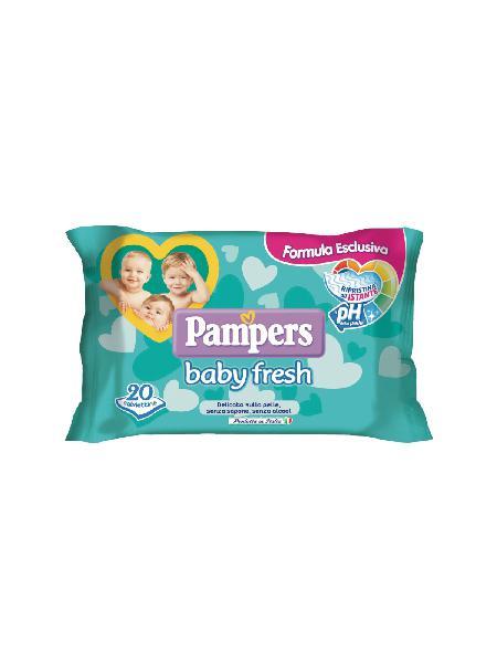 Pampers baby fresh salviettine - 20 pz - bimbostore