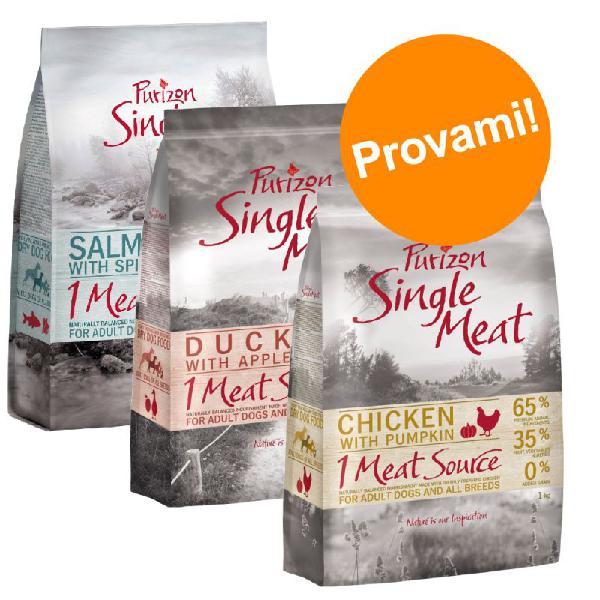 Set prova misto! purizon single meat adult - senza cereali