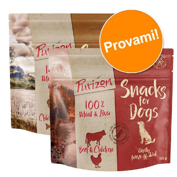 Set prova misto! purizon snack per cani - senza cereali 2 x