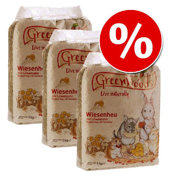 Set risparmio! 3 x 1 kg fieno di prato greenwoods