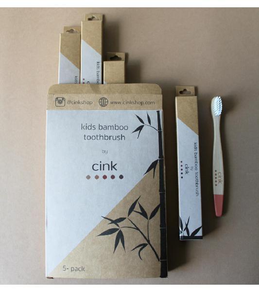 Spazzolino da denti per bambini in bambù, confezione da 5