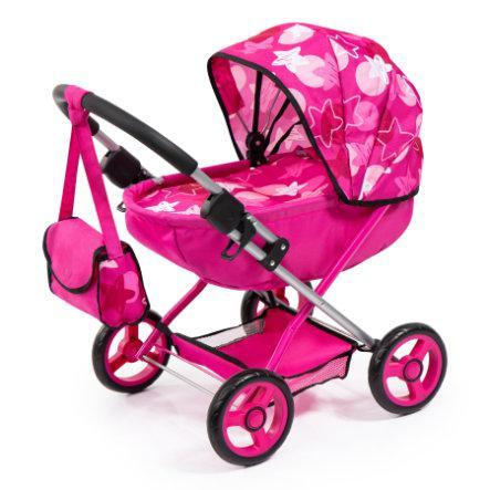 Bayer design carrozzina per bambole rosa stelle