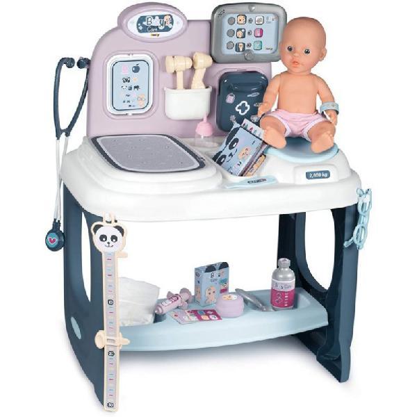 Baby care centro pediatra con bambola e 28 accessori