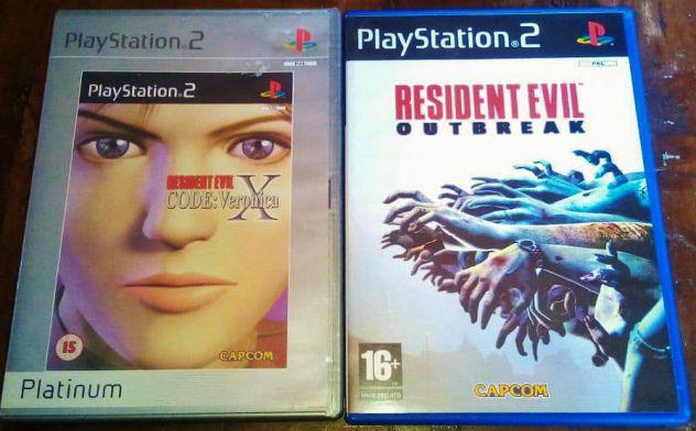 Set giochi sony ps2 playstation 2 resident evil code