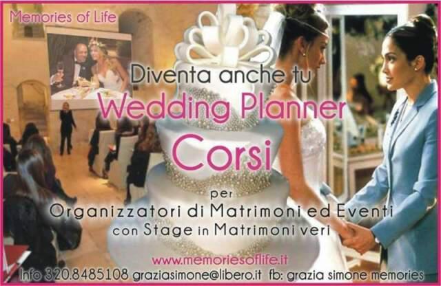 Corso per wedding & event planner sessioni 2021