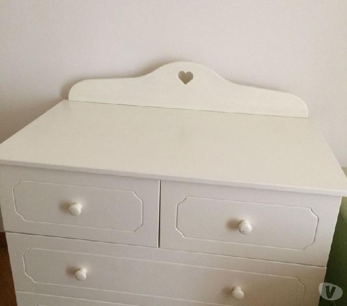 Cassettone siola in vero legno e letto con doppio letto estr in vendita napoli - vendita mobili usati