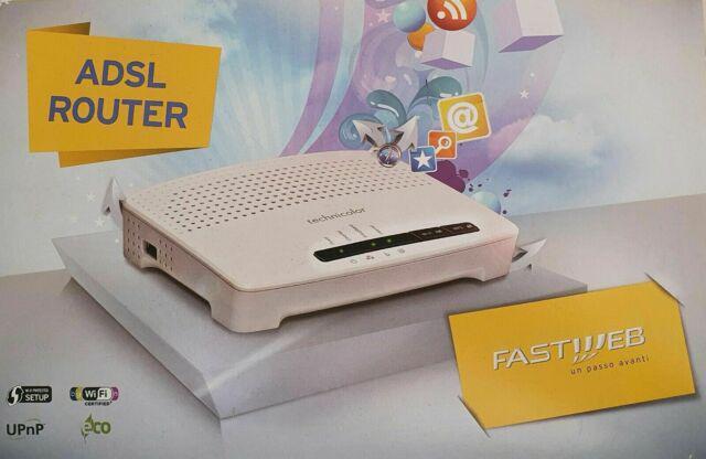 Fastweb technicolor tg582n modem router adsl