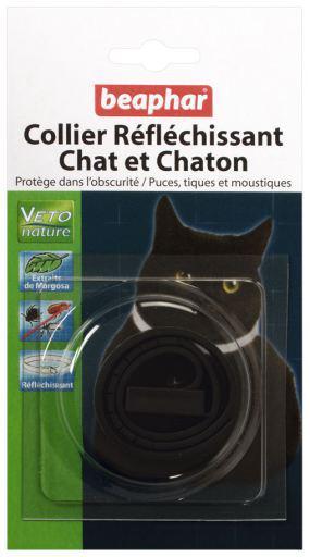 Beaphar collare per gatto riflettente margosa nera