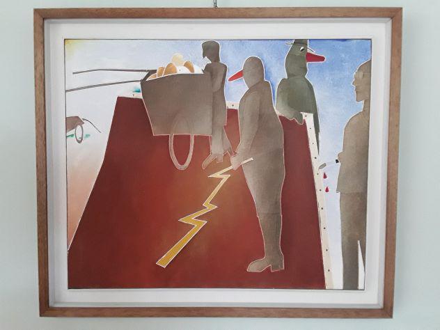 Emilio tadini dipinto olio su tela, cm 65×55.