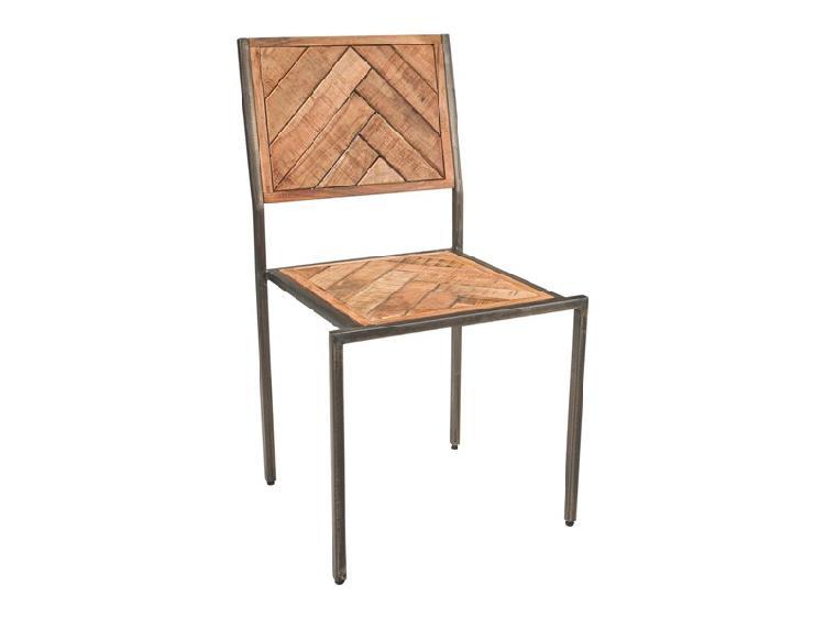 Sedia sedia legno e ferro parquet t outlet etnico a prezzo
