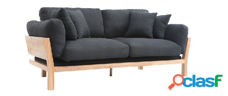 Divano design 3 posti sfoderabile grigio antracite kyo