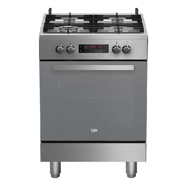 Cucina combinata a gas 4 fuochi beko inox 60 cm