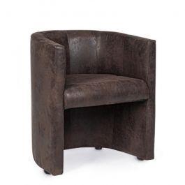 Poltrona in legno e tessuto marrone corfu 62x58x h74 cm